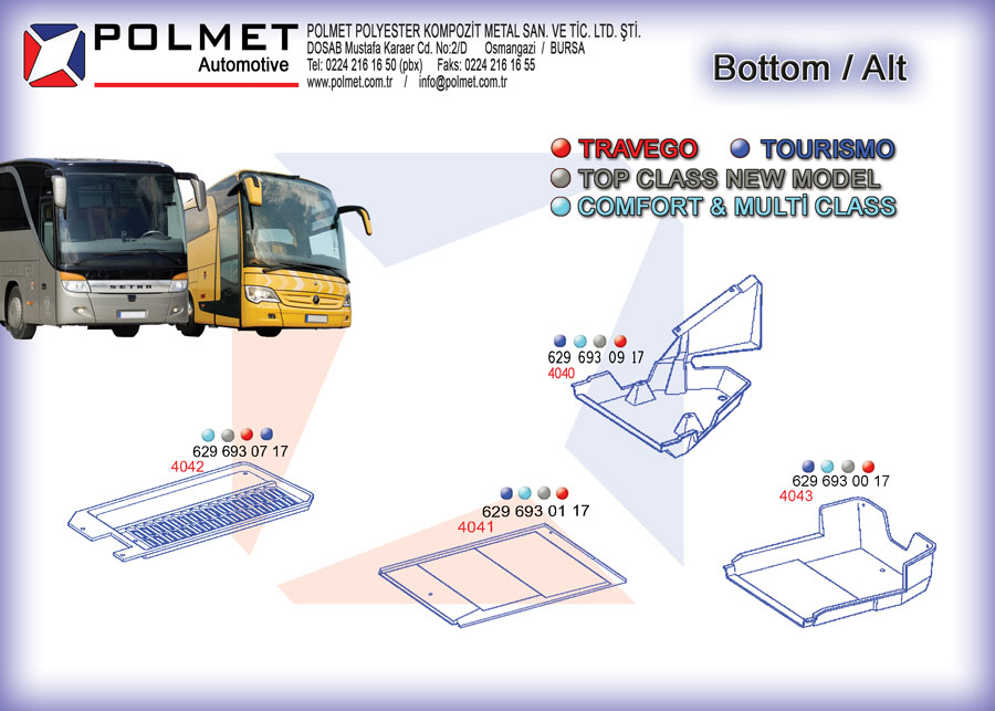Travego, tourismo, intouro, integro buses, spare parts catalog page bottom coatings industry