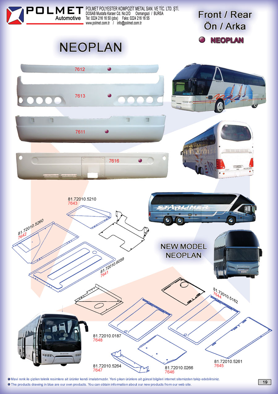Man and Neoplan buses, Man fortuna, man s 2000, Starliner, Tourliner spare parts catalog page